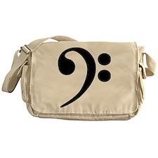 Black Bass Clef Messenger Bag