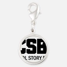 Cool Story Bro Silver Round Charm