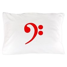 Red Bass Clef Pillow Case
