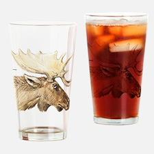 Moose Head Animal Drinking Glass