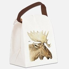 Moose Head Animal Canvas Lunch Bag