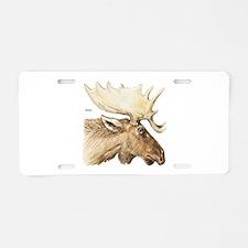 Moose Head Animal Aluminum License Plate