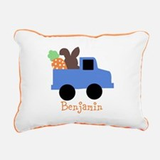 Easter time truck personalized Rectangular Canvas