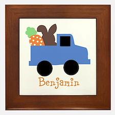 Easter time truck personalized Framed Tile