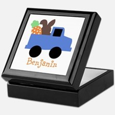Easter time truck personalized Keepsake Box