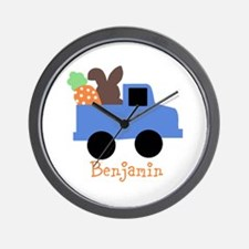 Easter time truck personalized Wall Clock