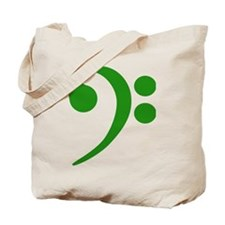 Green Bass Clef Tote Bag