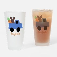 Easter time truck personalized Drinking Glass
