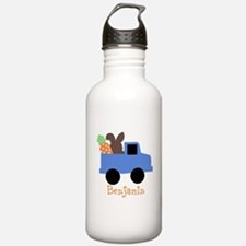 Easter time truck personalized Water Bottle