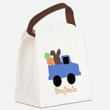 Easter time truck personalized Canvas Lunch Bag