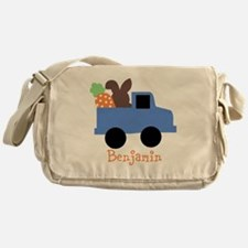 Easter time truck personalized Messenger Bag