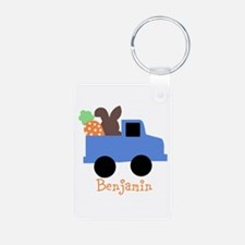 Easter time truck personalized Keychains
