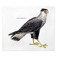 Crested Caracara Bird King Duvet