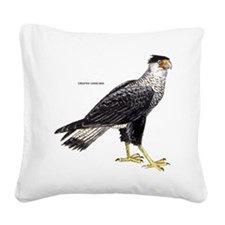 Crested Caracara Bird Square Canvas Pillow