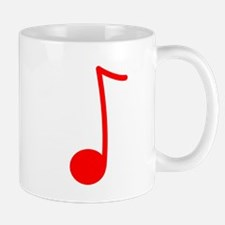 Red Eighth Note Mug