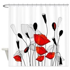 Beautiful Red Poppies Shower Curtain
