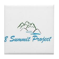 8 summit project Tile Coaster