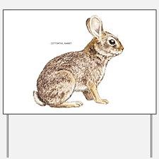 Cottontail Rabbit Yard Sign