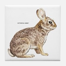 Cottontail Rabbit Tile Coaster