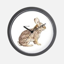 Cottontail Rabbit Wall Clock