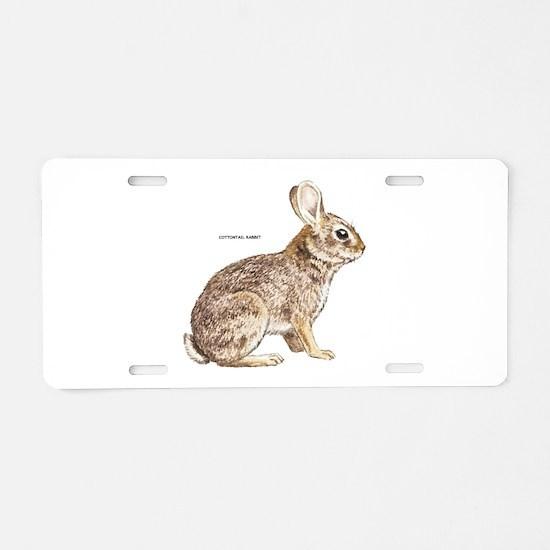 Cottontail Rabbit Aluminum License Plate