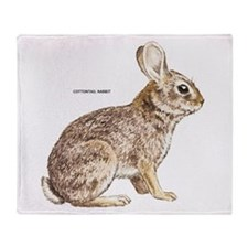 Cottontail Rabbit Throw Blanket