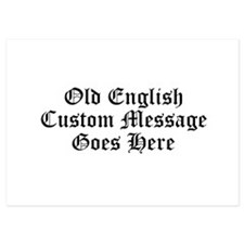 Old English Custom Message Invitations