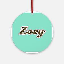Zoey Aqua Ornament (Round)