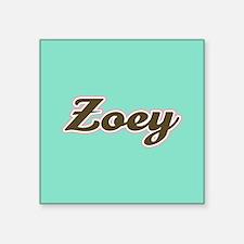Zoey Aqua Sticker