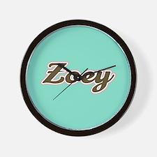 Zoey Aqua Wall Clock
