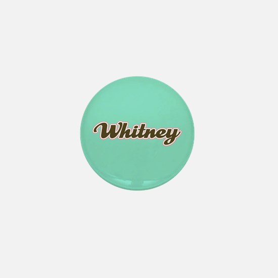 Whitney Aqua Mini Button