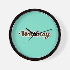 Whitney Aqua Wall Clock