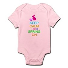 Keep Calm Spring On Easter Body Suit