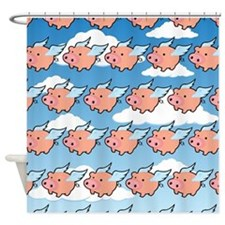 When Pigs Fly Two Shower Curtain