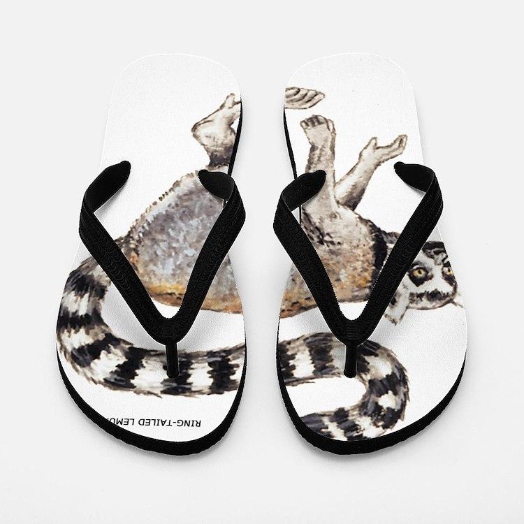 Ring-Tailed Lemur Flip Flops