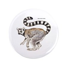 """Ring-Tailed Lemur 3.5"""" Button"""