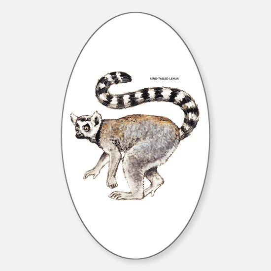 Ring-Tailed Lemur Sticker (Oval)