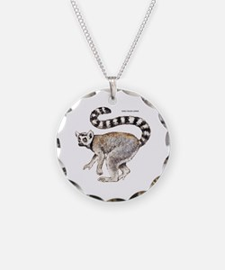 Ring-Tailed Lemur Necklace