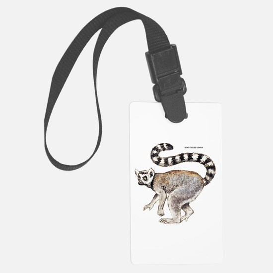 Ring-Tailed Lemur Luggage Tag