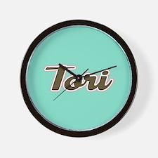 Tori Aqua Wall Clock