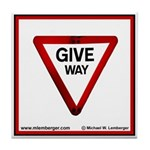 Give Way Tile Coaster