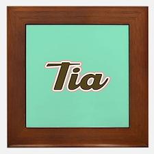 Tia Aqua Framed Tile