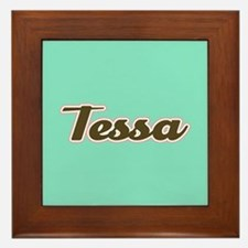 Tessa Aqua Framed Tile
