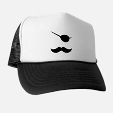 Pirate Mustache Trucker Hat