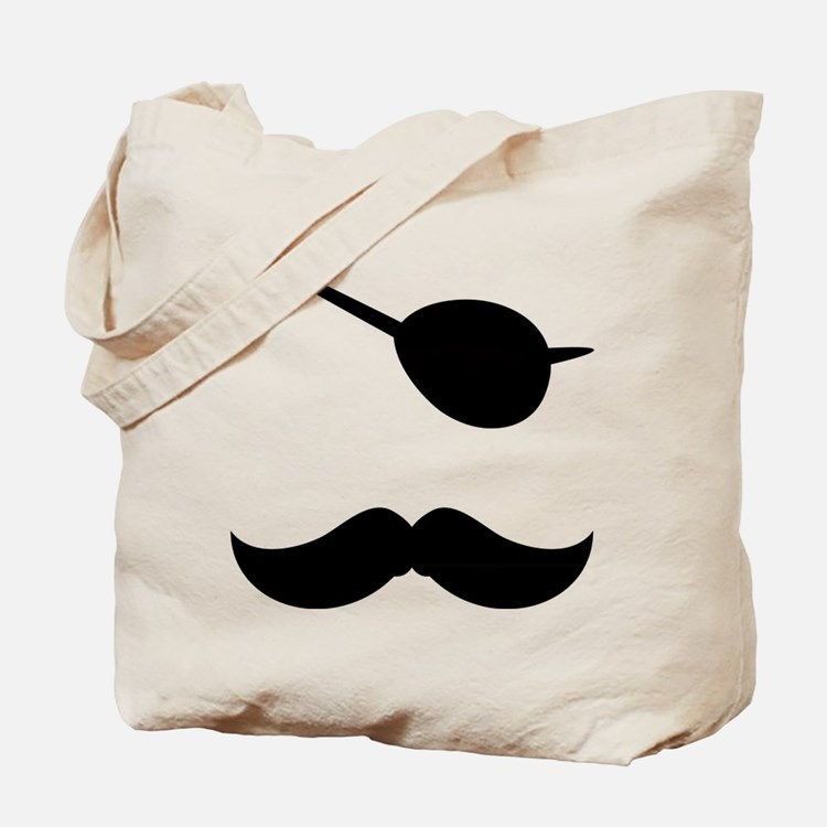 Pirate Mustache Tote Bag