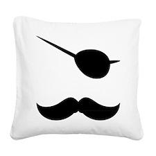 Pirate Mustache Square Canvas Pillow