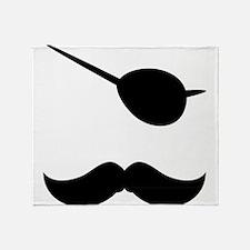 Pirate Mustache Throw Blanket