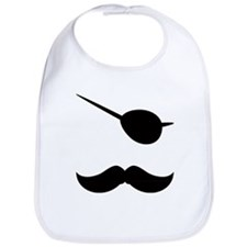 Pirate Mustache Bib