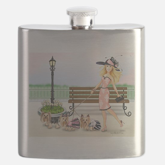 ByCatiaCho Yorkie Derby Flask
