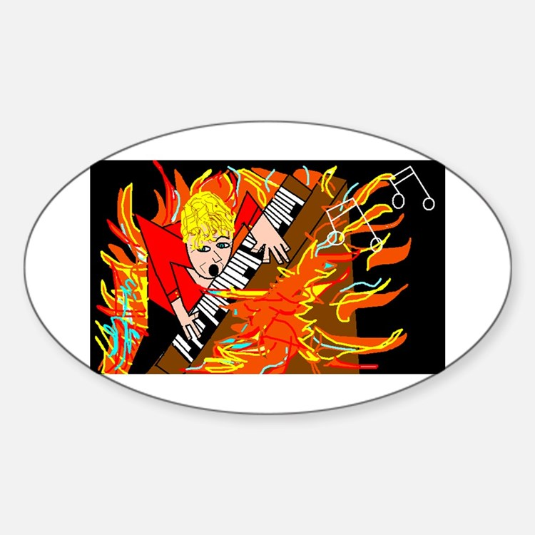 FIRE Oval Decal